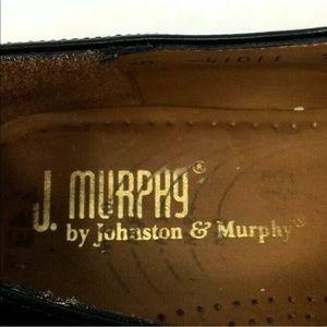 Johnston & Murphy Shoes - J Murphy Mens 7.5 brogue dress shoes black leather